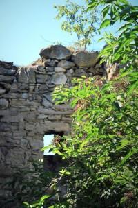 pereti de la Castelul Bocskai din Aghiresu